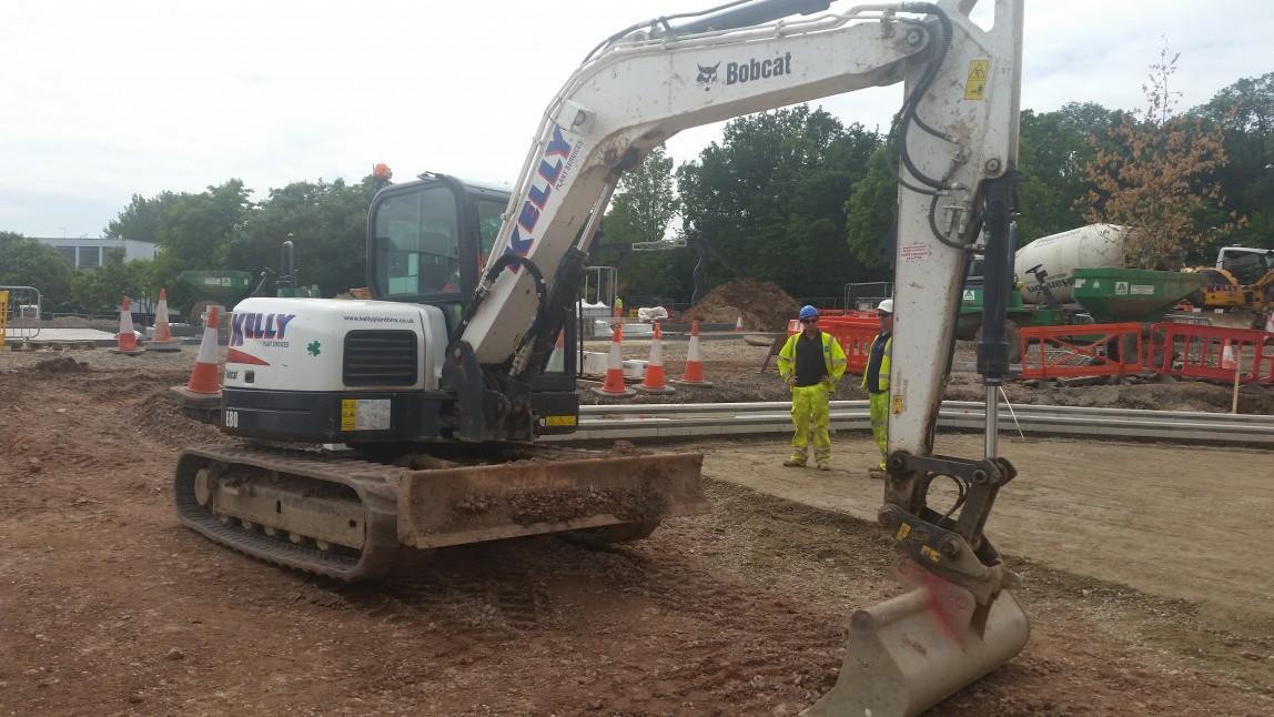 Kelly Plant Hire Bobcat Excavator