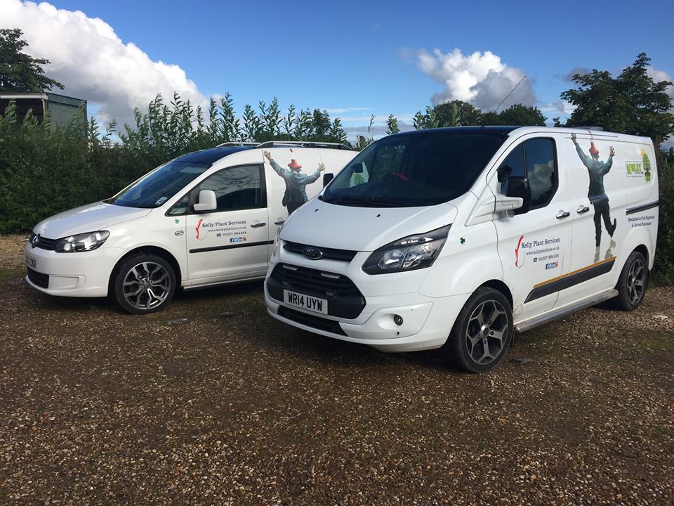 Kelly Plant Hire vans
